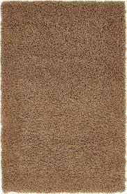 tapis shaggy beige foncé tapis shaggy chaud doux moelleux moderne décoratif 5cm