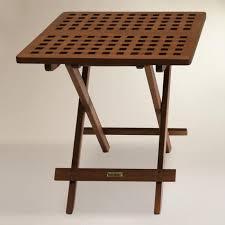 Folding Side Table Wood Catania Folding Side Table World Market