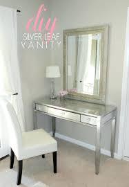 Simple Vanity Table Desk Chairs Upholstered Chair Mirrored Glass Bedroom Vanity