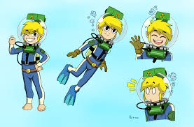toon link lama scuba color commission by the sakura samurai on