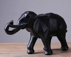 elephant statue modern abstract black elephant statue resin ornaments home