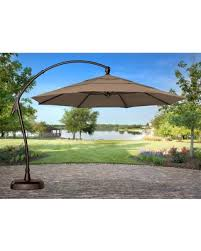 Patio Umbrella Sunbrella Amazing Deal Treasure Garden 11 Ft Cantilever Offset Sunbrella