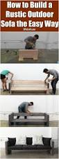 Build Outdoor Garden Table by Best 25 Diy Garden Furniture Ideas On Pinterest Outdoor