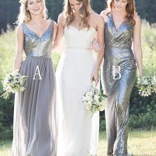 gorgeous high quality mismatched styles sequin long cheap wedding