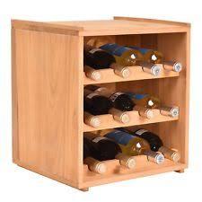 Wood Wine Cabinet 40 Bottle Wood Wine Rack 5 Tier Storage Display Shelves Kitchen