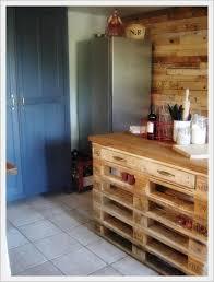 meuble cuisine diy îlot central de cuisine en palettes tuto gratuit diy pallet
