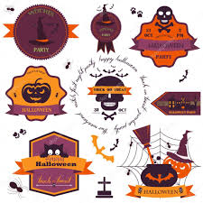 vintage halloween images clip art set of vintage happy halloween badges and labels vector