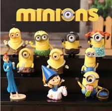 new sell despicable me minions doll model desk decoration 10pcs