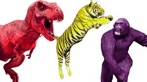 tiger cartoon gorilla vs dinosaurs cartoons for children full
