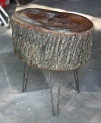 How To Make A Wood Stump End Table by 17 Apart How To Diy Stump Table