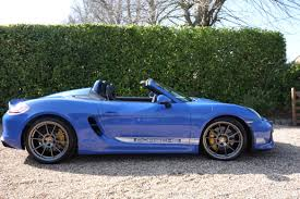 gold porsche convertible my new spyder in maritime blue rennlist porsche discussion forums