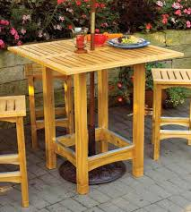 Plans For Wooden Patio Furniture by Bistro Patio Table And Stools Woodworking Plan From Wood Magazine
