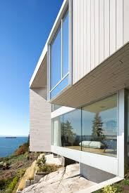 this new house in vancouver is designed to take advantage of its mcleod bovell modern houses have designed this mostly concrete split level home in vancouver canada that overlooks the ocean