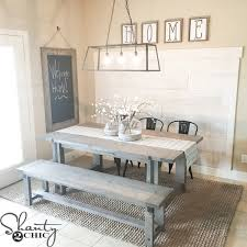 farm table with bench diy industrial farm table by shanty2chic diy done right
