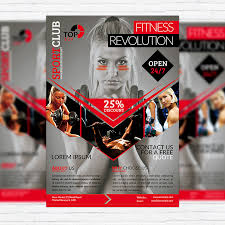 fitness flyer template fitness revolution premium flyer template cover