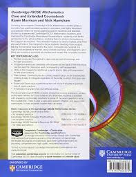cambridge igcse mathematics core and extended coursebook with cd