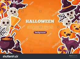 Halloween Banners by Halloween Concept Banner Flat Icon Set Stock Vector 298577945