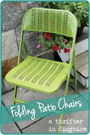 Patio Folding Chair by A Thrifter In Disguise Diy Metal Folding Patio Chairs Makeover