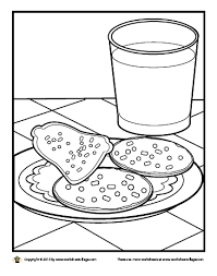 milk christmas cookies coloring