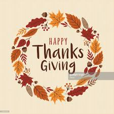 happy thanksgiving card with wreath vector getty images