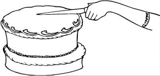 Chocolate Cake First Cut Coloring Pages Netart Cut Coloring Pages