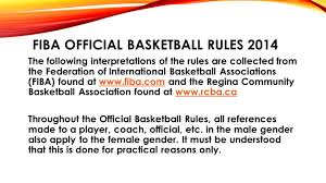 fiba u0026 rcba rules fouls and conduct ppt download