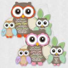 details about owl baby shower invitations boy birthday