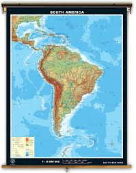 Map Of Sounth America by Klett Perthes South America Dual Sided Political And Physical