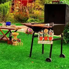 Backyard Barbecue Grills Garden Wooden Furniture Picnic Hamper Basket Bbq Grill Sign