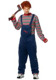 horrifying halloween costumes mens evil chucky costume men u0027s scary halloween costumes