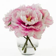 faux peonies flash sale 47usd now 37usd silk peonies arrangement with fuchsia