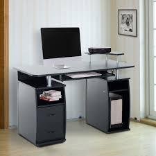 Pc Schreibtisch Mit Aufsatz Homcom Computertisch Schreibtisch Bürotisch Mit Druckerablage Pc