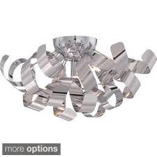 ribbon light quoize 12 light ribbon curled steel large pendant free shipping