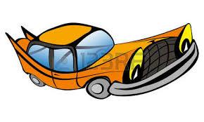 cartoon convertible car funny old retro convertible car cartoon vector illustration stock