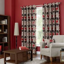 sherwood red lined eyelet curtains dunelm