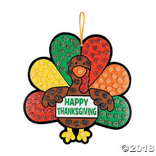 glitter turkey sign craft kit