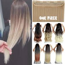 4 Piece Clip In Hair Extensions by Online Shop 3 4 Full Head Ombre Dip Dye Hair Extensions One Piece