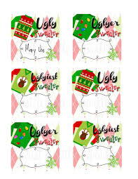 ugly sweater voting ballots diy you print winner ribbons