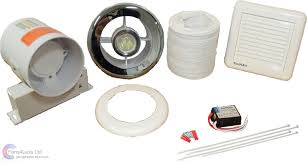 Selv Fan - shower extractor fan with selv light kit chrome grill std or