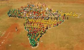 Map Of India by Biggest Human Map Of India U2013 India Book Of Records