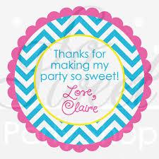 Birthday Decorations For Girls 24 Girls Birthday Favor Sticker Labels Chevron Birthday