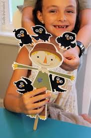 scarecrow craft u0026 crow printable puppets consumer crafts