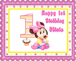 minnie mouse 1st birthday baby minnie mouse 1st birthday edible birthday cake topper