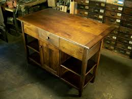 reclaimed oak kitchen island