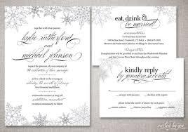 snowflake wedding invitations winter snowflake wedding invitation suite classic modern