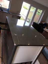 wren kitchen island worktop galaxy night gloss stainless steel