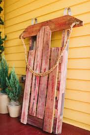 Holiday Decor Diy Wooden Sled Decoration Ideas Diy Pallet For Holiday Decor