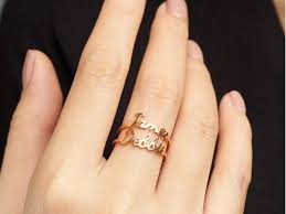 stackable rings with children s names name rings centime gift