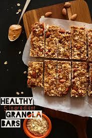 Top 10 Healthiest Granola Bars by 5 Ingredient Granola Bars Minimalist Baker Recipes