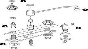 antique moen kitchen faucet parts diagram centerset single handle